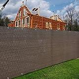 Alion Home Elegant Privacy Screen Windscreen Mesh For Backyard Deck, Patio, Balcony, Fence, Porch, Pool, Beach (5' x 80', Mocha Brown)