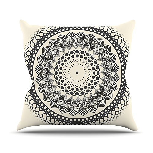 Monochrome Mandala Throw Pillow