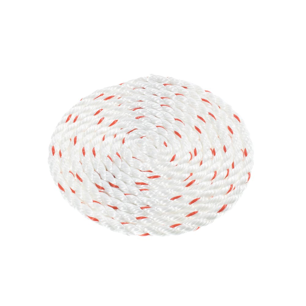 White with Red Tracer 100 25 Twisted 3 Strand PolyDac Combo Utility /& Towing Rope 50 1//2 300 3//4 1-1//2 500 600 Feet Paracord Planet 250 1 3//8 2 inch Diameters in 10 5//8