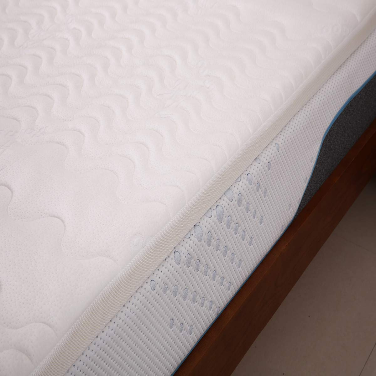 Cr Topper Colchón visco de Espuma con Efecto Memoria 180 x 190 x 6cm Núcleo ca.5cm Viscoelastico 7 Zonas Funda Hipoalergénica Lavable Extraíble: Amazon.es: ...