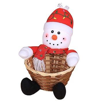 99df206b09193 Storage Box, MatureGirl Clearance Sale! Christmas Candy Storage Basket  Decoration Santa Claus Storage Basket