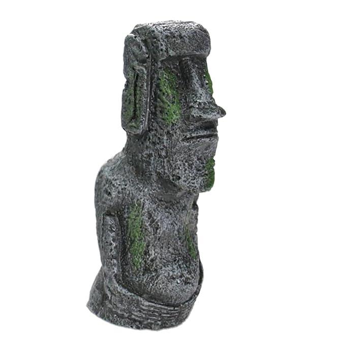 MagiDeal Resina Estatua Romana Piedra Artificial Ornamento Decoración para Acuario de Tanque de Peces - como se Muestran Las Fotos, L: Amazon.es: Hogar