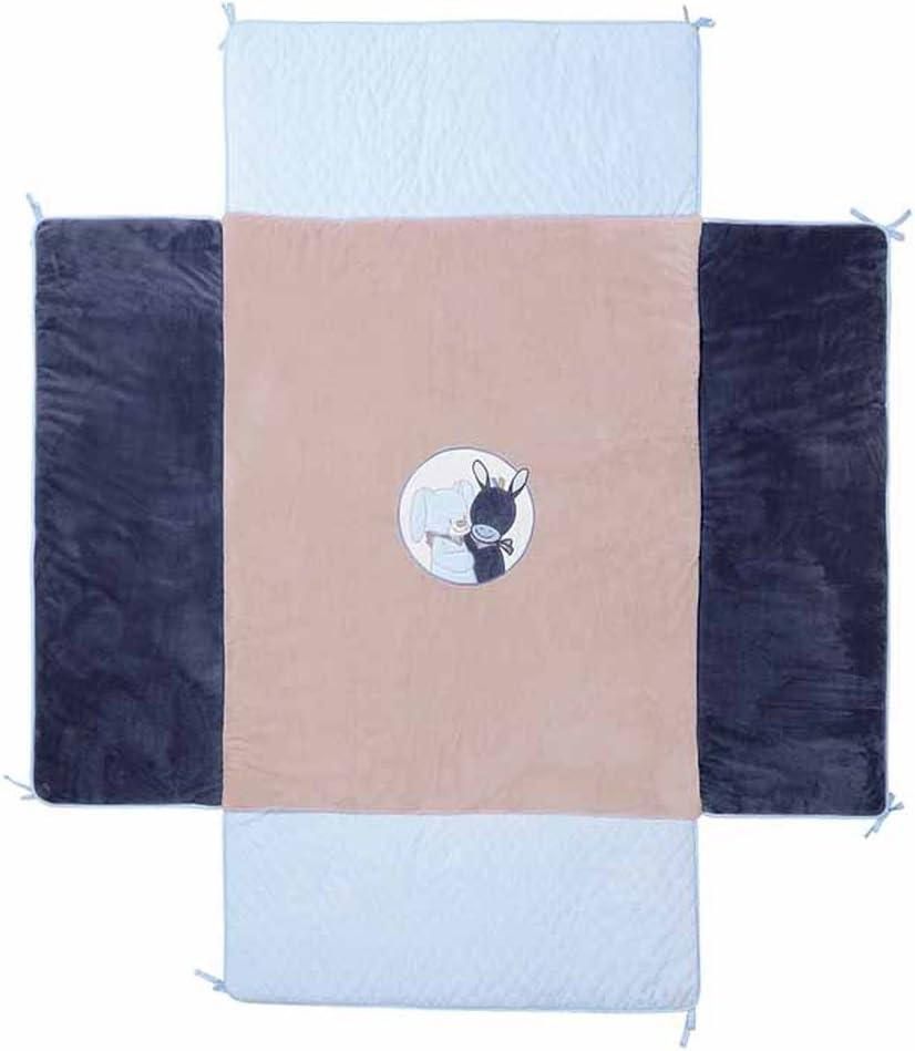 bleu Nattou Tapis deveil pour gar/çon Rectangulaire 80x70 cm Alex et Bibou