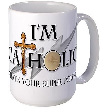CafePress - Catholic Mug - Coffee Mug, Large 15 oz  White Coffee Cup