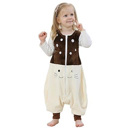 ZEEUAPI - Saco de dormir de franela para bebés niños infantíl Ropa para dormir (S
