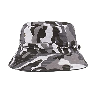 e1297caa009 Bucket Hats Jamicy Women Men Camouflage Adjustable Cap Hats Army Sport  Casual Hip Hop Fisherman Hat (Black)  Amazon.co.uk  Clothing