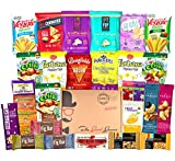 NON-GMO HEALTHY SNACKS Care Package (28 Ct): Snack Bars, Vegan Puffs, Popcorn, Fruit Snacks, Freeze Dried Fruit, Gift Box Variety Pack, College Student Military Care Package, Office Client Gift Basket