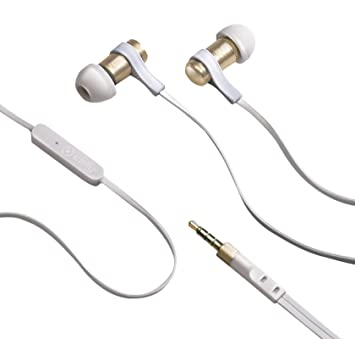 Celly Stereo Universal Earphone for iPhone Samsung Nokia Smartphone -  White Gold cb6fd4e09d