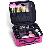Docolor Portable Travel Makeup Train Bag Makeup Cosmetic Case Organizer Storage Bag for Cosmetics Makeup Brushes Toiletry Jewelry Digital accessories