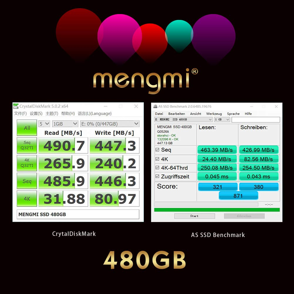 SSD 120GB Mengmi SSD 120GB 2.5 inch SATA 3 internal Solid state drive speed up to 500MB//s with DRAM cache buffer for PC//Laptop