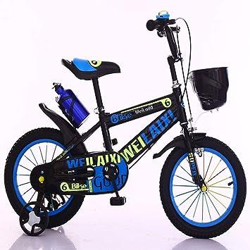 """K-G Bicicleta Infantil Bicicleta De Pedales De Bicicletas Niños En Talla 12"""" 14"""" 16"""" 18"""" For La Bicicleta 3-10 Años De Edad Niño/Niña Bicicletas For Niños con El Sostenedor De La Botella:"""