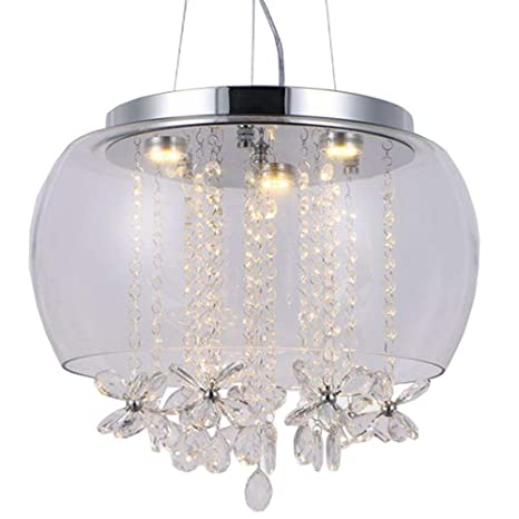 16u0026quot; Modern Dining Room Crystal Butterfly Ceiling Pendant Lights Clear  Glass Outer Lampshade Pendant Lamp