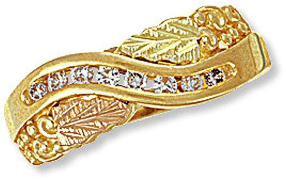 Landstroms Ladies 10k Black Hills Gold Diamond Ring - G L02303X