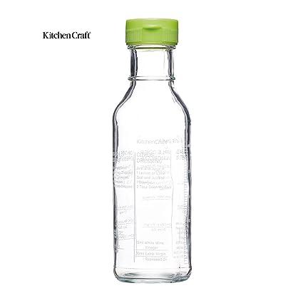 KitchenCraft Salad Dressing Recipe Bottle KCHEDRESSERDISP