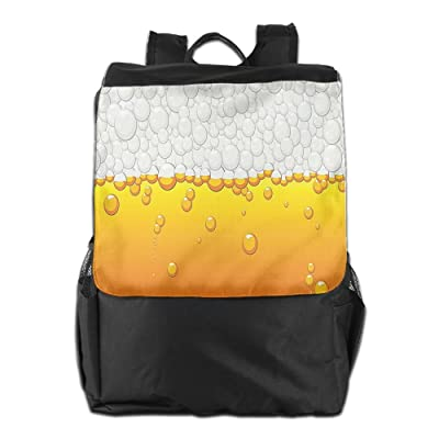 Newfood Ss Brewery Beer Bubbles Liquid Water Crystals Background Beverage Drink Design Outdoor Travel Backpack Bag For Men And Women
