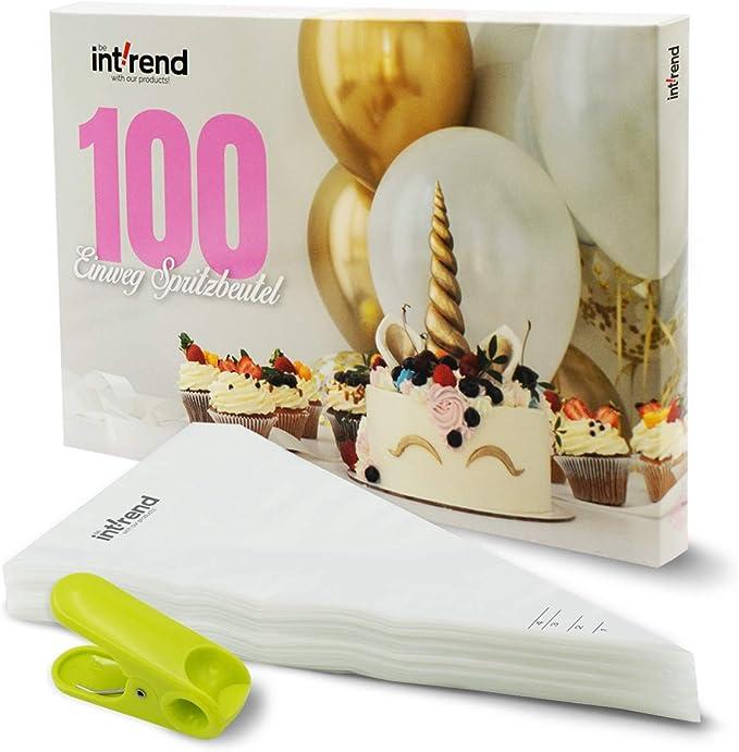 100Stk Spritzbeutel XXL Einweg für Blumennagel Garniertülle Torte Spritzsack HS