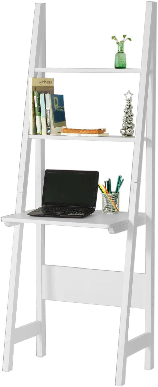 SoBuy® Mesa de ordenador con estante integrado, Estanterias ...