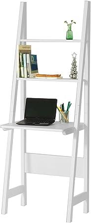 Sobuy Frg60 W Table Bureau Bibliotheque Etagere Style Echelle De 2