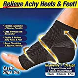 Ezonedeal Foot Angel Compression Socks Foot Sleeve Plantar Arthritis Sore Achy Heel Pain Anti Fatigue Socks for Ankle Swelling Plantar (S/M)