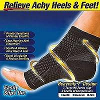 Foot Angel Compression Socks Foot Sleeve Plantar Arthritis Sore Achy Heel Pain Anti Fatigue Socks for Ankle Swelling Plantar (S/M)