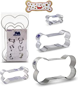 Dog Bone Dog Biscuit cookie cutters set for Homemade Treats,4 piece set Boxed package.stainless steel, 5