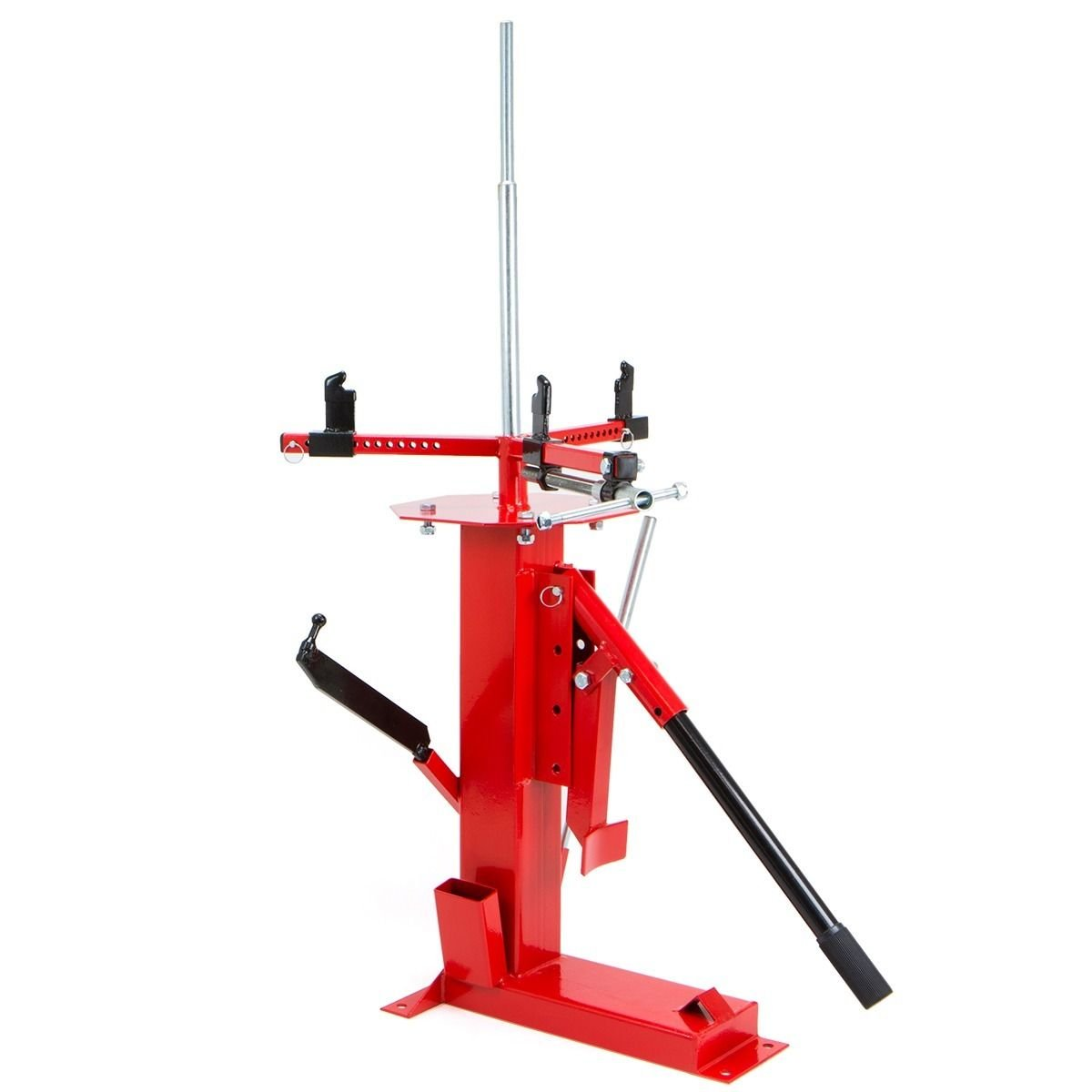 Red Tire Changer for 4'' - 16.5'' w/ Adjustable Sliding Jaw Clamps