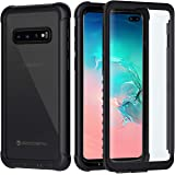 seacosmo Samsung S10 Plus Case, [Built-in Screen Protector] Full Body Clear Bumper Phone Case Shockproof Protective Cover for