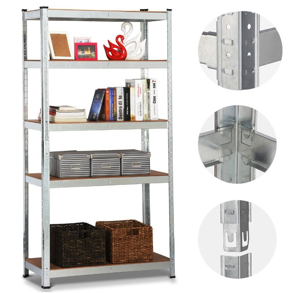 Topeakmart 5 Tier Storage Rack Heavy Duty Shelf Steel Shelving Units,71