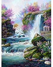 5D Diamond Painting Kits by Numbers Waterfall Cross Stitch Set DIY Art Full Drill Embroidery Mosaic for Home Decor with Tools Accessories Storage Box-Beauty and The beast-30x40cm