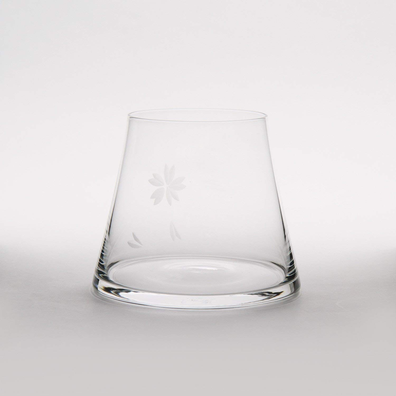 Mars Planning [Premium Gift Set] Tajima Glass Mount Fuji Base Fujisan Glass Set Fuji Glass / Fujisan Hoei Glass (Clear) / With Wooden Coaster by Mars (Image #4)