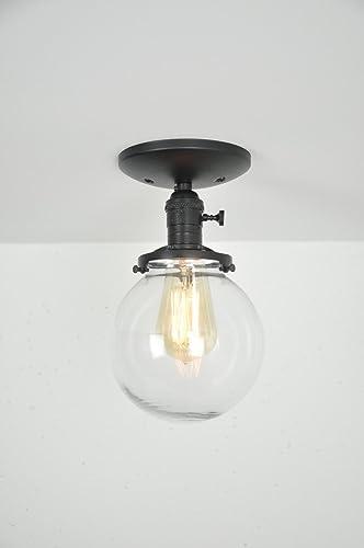 Amazon.com: Globe Ceiling Light - Black Light Fixture - Ceiling ...