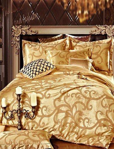 kiuytghnb colcha funda de edredón de conjuntos, oro Plein dorado