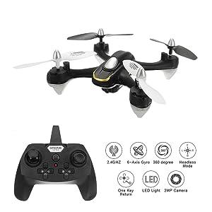 EACHINE E33C RC Quadricottero Drone con telecamera Quadcopter With 2MP HD Camera 2.4G 6-Axis Headless Mode Toys Micro Nano Quadcopter RTF Modalità 2 (Nero)