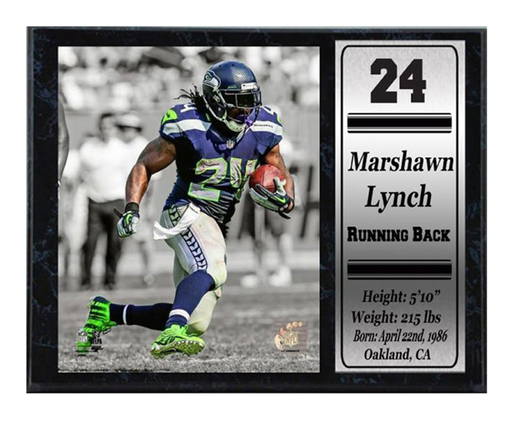 Encore Select 521-07 NFL Seattle Seahawks Marshawn Lynch Stats Plaque 12-Inch by 15-Inch