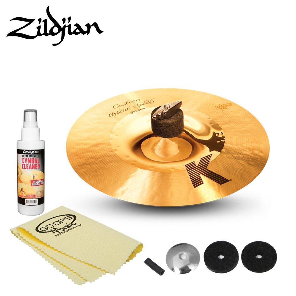 Zidjian K Custom 9'' Hybrid Splash Cymbal (K1209) Includes: Cymbal Felts, Sleeve, Cup washer, ChromaCast Polish & Cloth