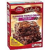 Betty Crocker Baking Delights Triple Chunk Supreme Brownie Mix Box, 21 Oz