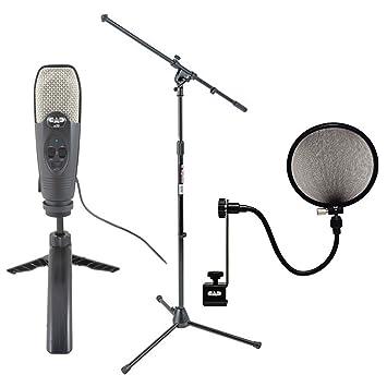 CAD Audio U39 USB micrófono de condensador cardioide de gran diafragma + on stage Stands MS7701B ...