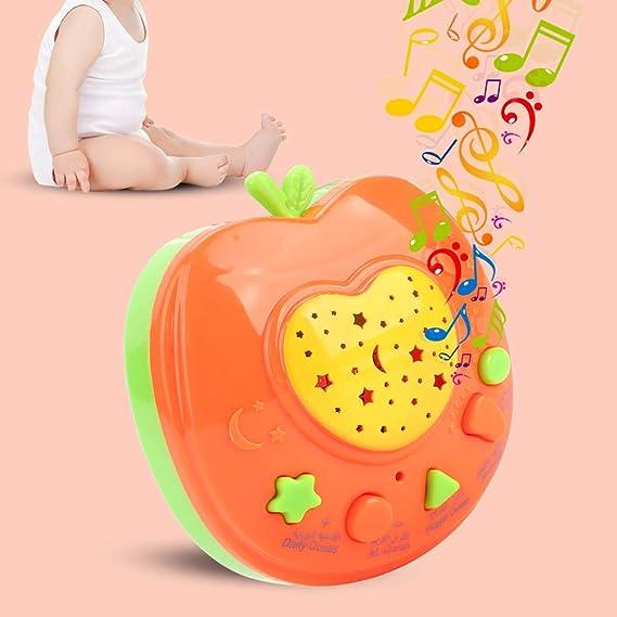 掛かるロープの読書機械が付いている幼児の読書機械、幼児の早い教育おもちゃのための子供の読書おもちゃのアラビアの耐久の子供の読書学習機械(Orange)
