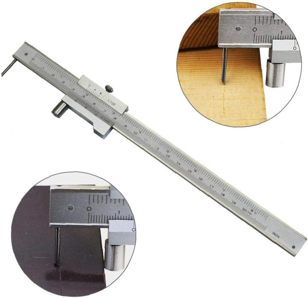Nicetruc 0-200mm Marcado Pie de Rey con carburo de trazador Plano Aguja Marcado Accesorios para Herramientas