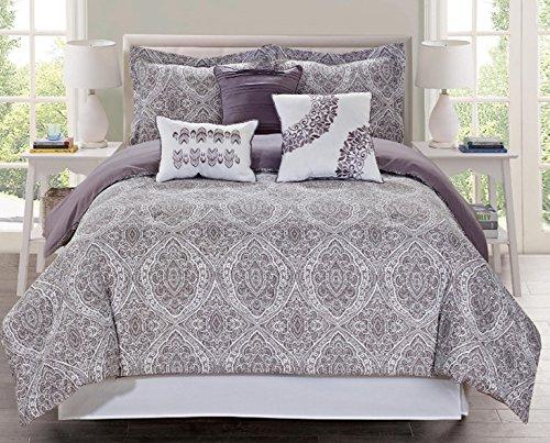Camden Comforter Set - Elegant Camden 7 Piece Comforter Set Grey/White/Multi-colors