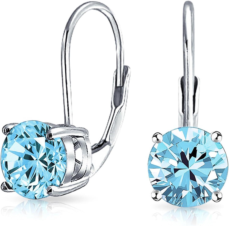Bling Jewelry Plata de Ley 925redondo colorido Leverback Pendientes