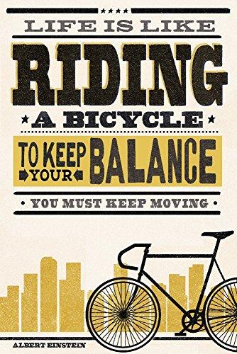 a Bicycle - Screenprint Style - Albert Einstein (12x18 Fine Art Print, Home Wall Decor Artwork Poster) ()