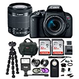 Canon EOS Rebel T7i DSLR Camera w/18-55mm lens, Flash, Filter Kit, Auxiliary Lenses & 64GB Deluxe Accessory Bundle