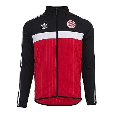 Adidas para Hombre Originals FC Bayern Cortavientos - AI7429, Rojo Negro: Amazon.es: Deportes y aire libre