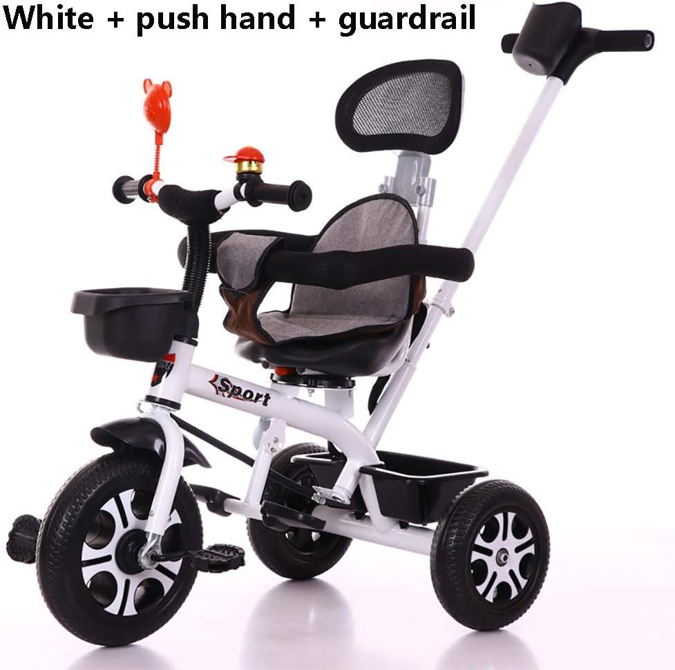 Triciclos Bebes 1-6 Año, Triciclo Plegable Bicicletas Estaticas BH con Se Pueden Seleccionar 3 Tipos de Neumáticos, la Carga de 25 KG es Muy Adecuada para Caminos de Grava