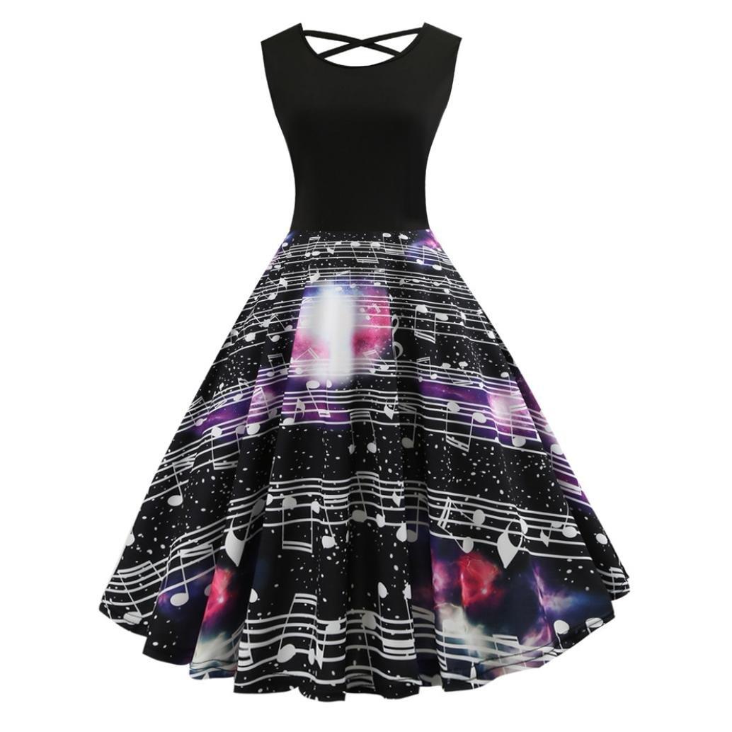 Vestido de balancín vintage de moda para mujer, estilo Saihui Retro, estilo años 50, impreso en línea A, para fiesta, graduación, vestido para mujer, ...