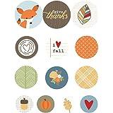 Hello Fall Self-Adhesive Bradz 13/Pkg-