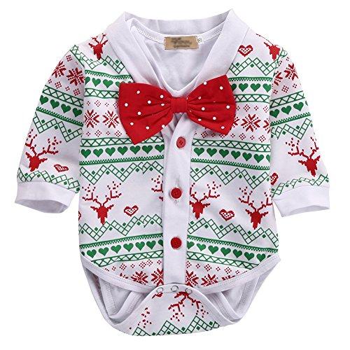 Snowflake Baby Cardigan - Newborn Toddler Baby Girls Boys Short Sleeve Romper + Snowflake Cardigan Coat 2PCs Outfits (0-3Months)