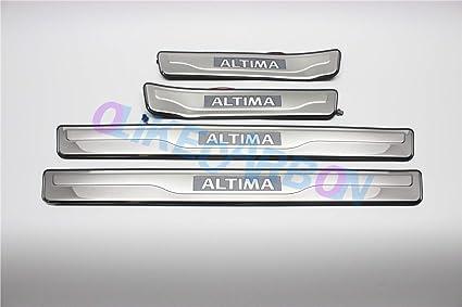Nissan Altima black front door sill scuff plates