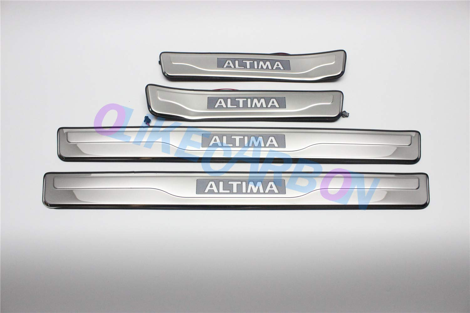 For Nissan Altima 2013-2015 Car Door Sill Scuff Plate Guard Entry Door Guard Sills With Led